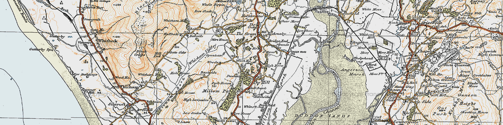 Old map of Woods in 1925