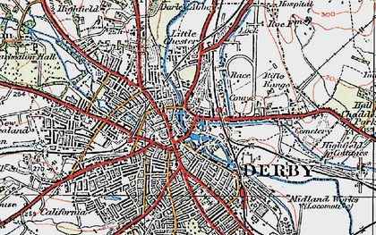 Old map of The Holmes in 1921
