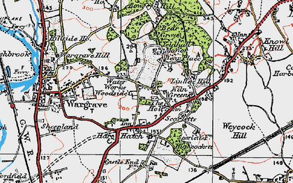 Old map of Yeldall Manor in 1919