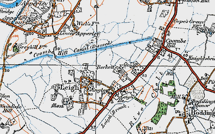 Old map of Leigh Ho in 1919
