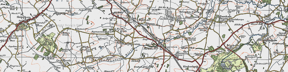 Old map of Lings, The in 1921