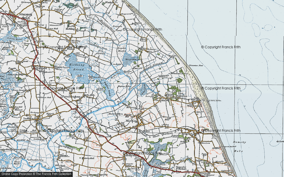Old Maps of The Norfolk Broads Francis Frith