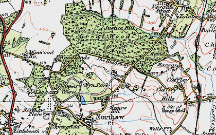 Old map of The Ridgeway in 1920