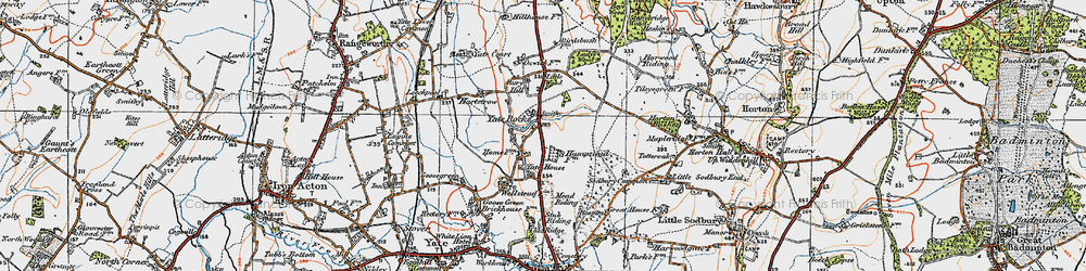 Old map of Yate Court in 1919
