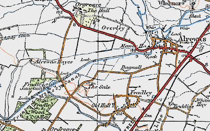 Old map of Bagnall in 1921