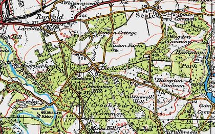 Old map of The Sands in 1919