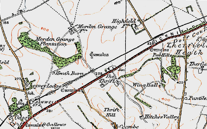 Old map of The Thrift in 1920