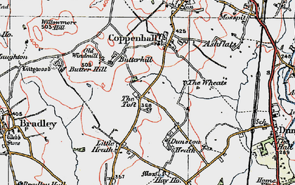 Old map of Wheats, The in 1921