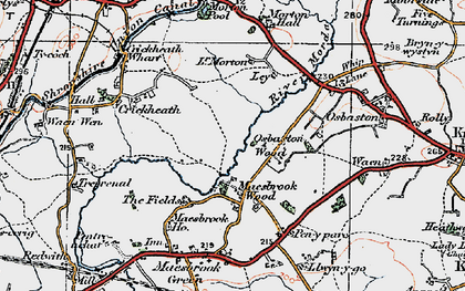 Old map of Ley in 1921