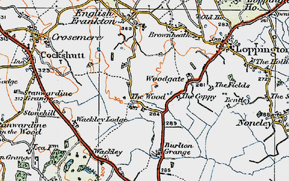 Old map of Woodgate in 1921