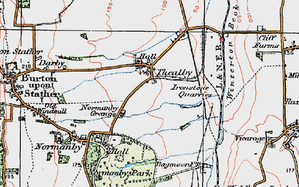 Old map of Barkers Holt in 1924
