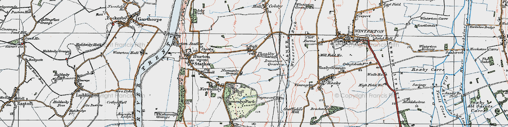 Old map of Winterton Beck in 1924