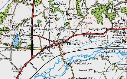 Old map of Theale in 1919