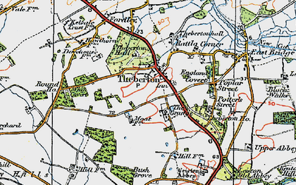 Old map of Leiston Abbey in 1921