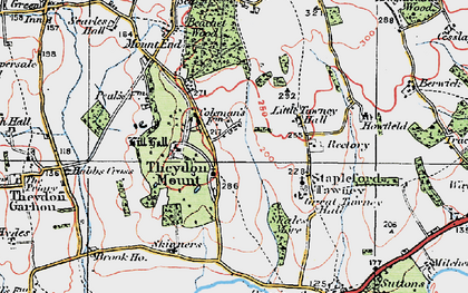 Old map of Theydon Mount in 1920