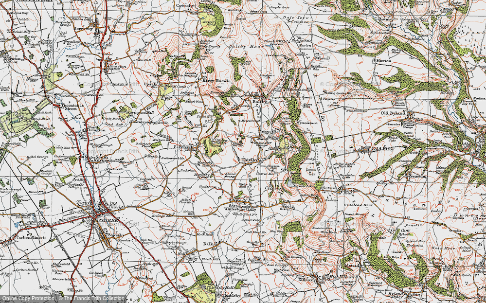 Old Map of Historic Map covering Aspen Grove in 1925