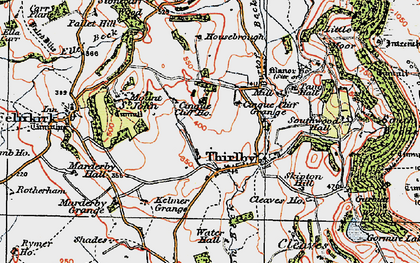 Old map of Whitestone Cliff in 1925