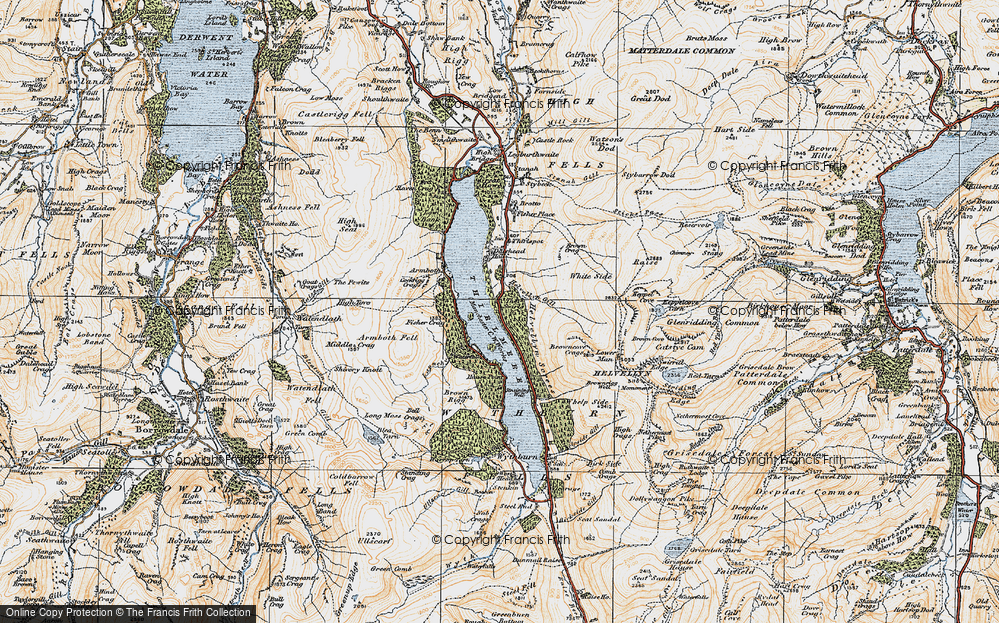 Old Map of Thirlmere, 1925 in 1925