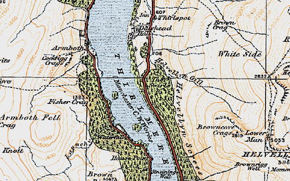 Old map of Thirlmere in 1925