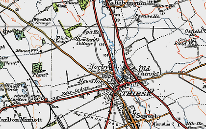 Old map of Thirsk in 1925