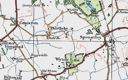Old map of Wycliffe Plantn in 1924