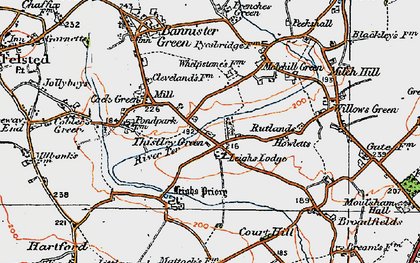 Old map of Leighs Lodge in 1919