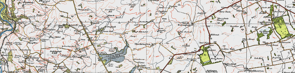 Old map of Whiteside in 1925