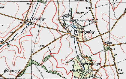 Old map of Ash Hill (Long Barrow) in 1923