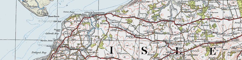 Old map of Wilmingham in 1919