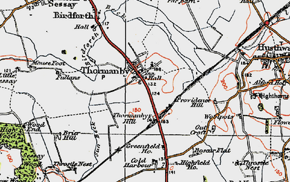 Old map of Woodman's Ho in 1925