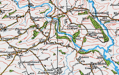 Old map of Lashbrook in 1919
