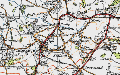 Old map of Thornbury in 1919