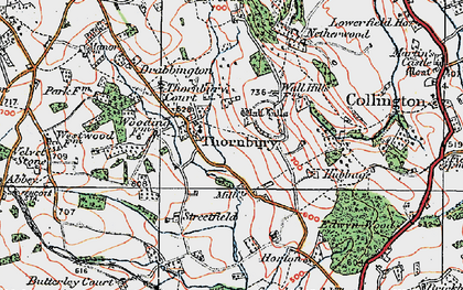Old map of Yeld Ho in 1920