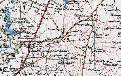 Old map of Ley Fields in 1923