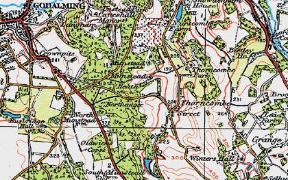 Old map of Winkworth Arboretum in 1920