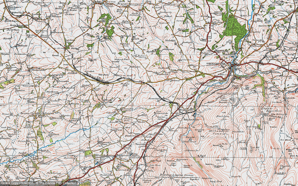 Old Map of Historic Map covering Linnacombe in 1919