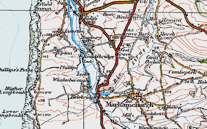 Old map of Thorne in 1919