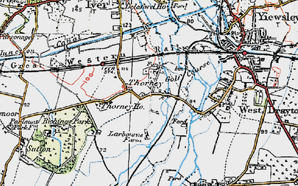 Old map of Thorney in 1920