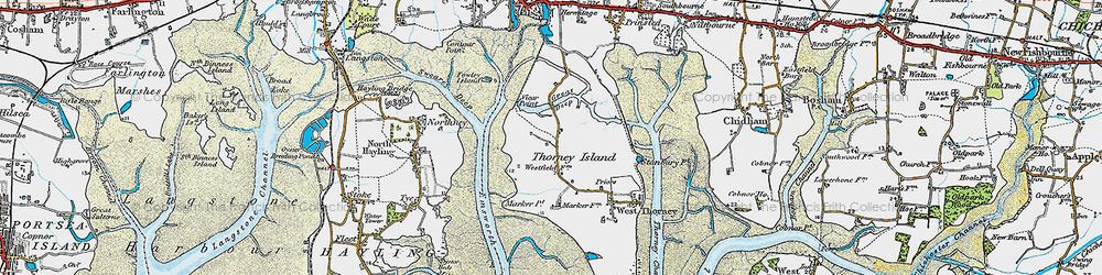 Old map of Wickor Point in 1919