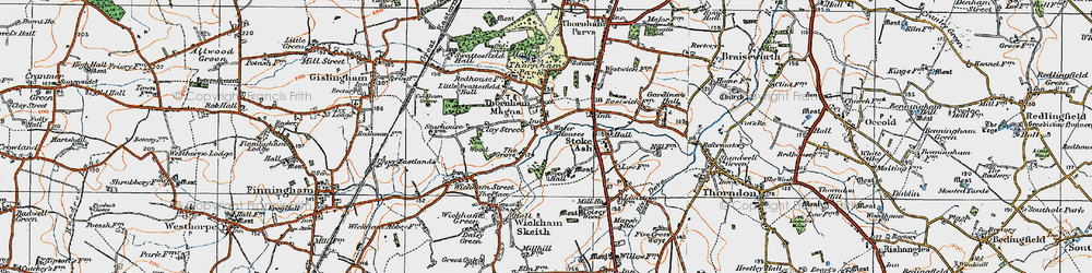 Old map of Wood Hall in 1920