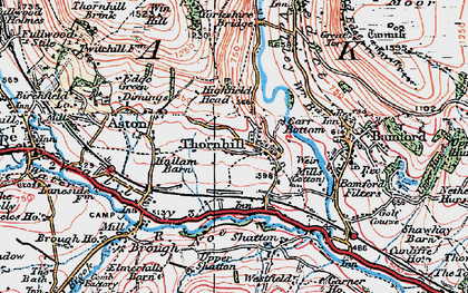 Old map of Yorkshire Br in 1923
