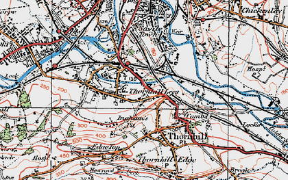 Old map of Thornhill Lees in 1925