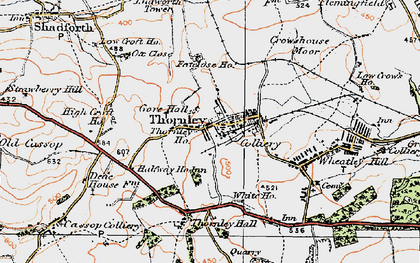 Old map of Thornley in 1925