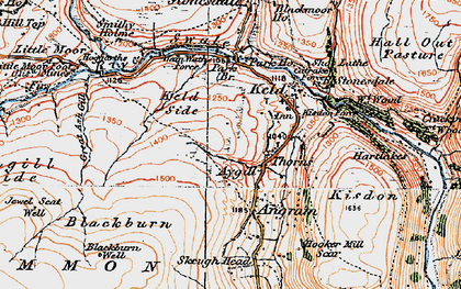 Old map of Ashgill Side in 1925
