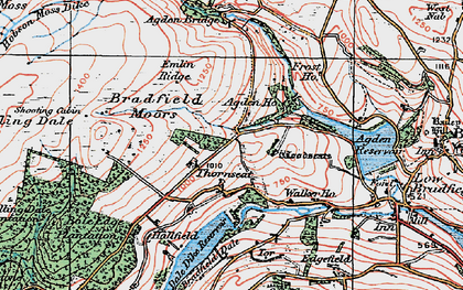 Old map of Agden Bridge in 1923