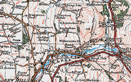 Old map of Wethercotes in 1923