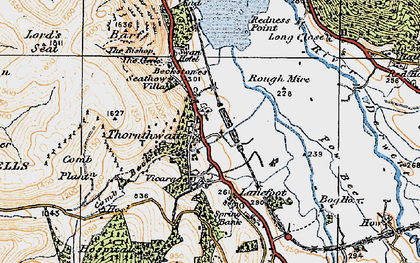 Old map of Whinlatter Forest Park in 1925