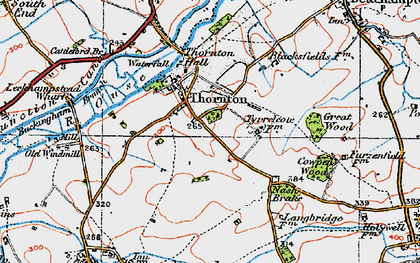 Old map of Thornton in 1919