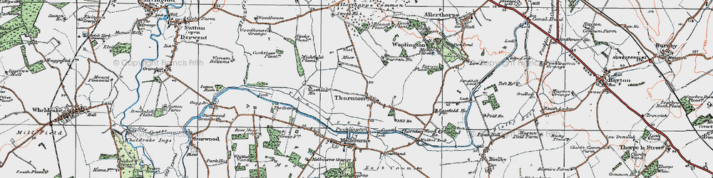 Old map of Allerthorpe Common in 1924