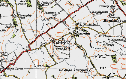 Old map of Stainton Beck in 1925